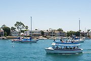Boating Through Newport Harbor