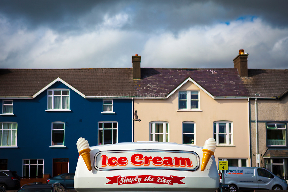 Ice cream van,  on dull summer's day, Dingle, Kerry, Ireland.