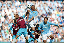 01.05.2011, City of Manchester Stadium, Manchester, ENG, PL, Manchester City FC vs West Ham United FC, im Bild Manchester City's Vincent Kompany and West Ham United's Daniel Gabbidon during the Premiership match at the City of Manchester Stadium, EXPA Pictures © 2011, PhotoCredit: EXPA/ Propaganda/ D. Rawcliffe *** ATTENTION *** UK OUT!