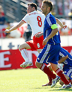 CHORZOW 01/06/2008.POLAND v DENMARK.INTERNATIONAL FRIENDLY.JACEK KRZYNOWEK SCORES THE EQUALISER ..FOT. PIOTR HAWALEJ / WROFOTO