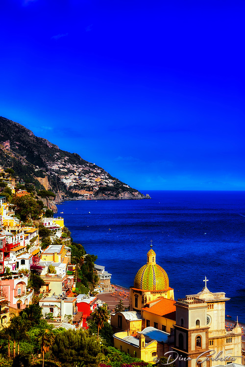 """Late afternoon sun illuminates Positano""…<br />