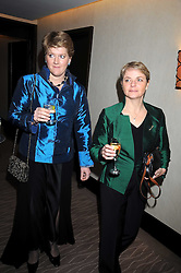 Left to right, CLARE BALDING and ALICE ARNOLD at the 2008 Costa Book Awards held at the Intercontinental Hotel, Hamilton Place, London on 27th January 2009.