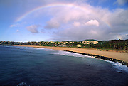 Rainbow, Shipwreck Beack, Hyatt Kauai, Poipu, Kauai, Hawaii<br />