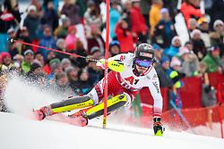 26.01.2020, Streif, Kitzbühel, AUT, FIS Weltcup Ski Alpin, Slalom, Herren, 2. Lauf, im Bild Manuel Feller (AUT) // Manuel Feller of Austria in action during his 2nd run in the men's Slalom of FIS Ski Alpine World Cup at the Streif in Kitzbühel, Austria on 2020/01/26. EXPA Pictures © 2020, PhotoCredit: EXPA/ Johann Groder