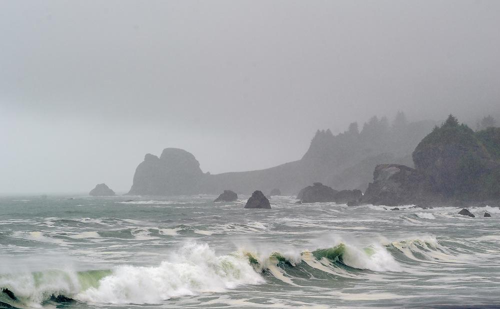 Pacific Coast between Klamath and Cresent City, California