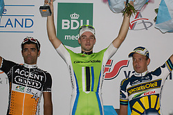 Rhenen, The Netherlands - Dutch Food Valley Classic (UCI 1.1) - 23th August 2013 - Podium: 1st VIVIANI (CAN), 2nd NAPOLITANO (AJW) and 3rd VAN HUMMEL (VCD)