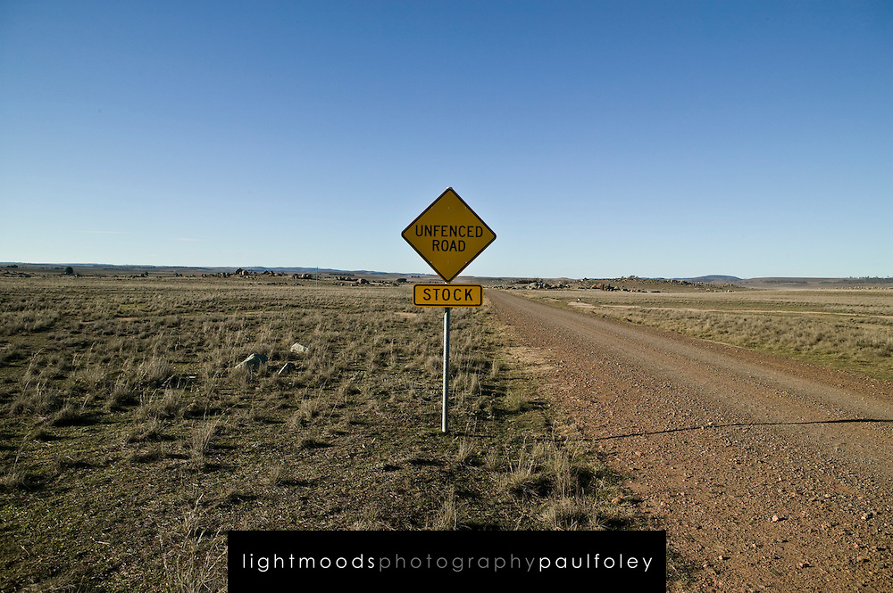 Unfenced Road in Rural Australia