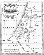 Map of Palestine showing distances in Roman miles. Based on various ancient authors and the ' Jerusalem Itinerary'. Engraving c1830.