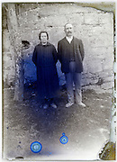 eroding glass plate photo of couple