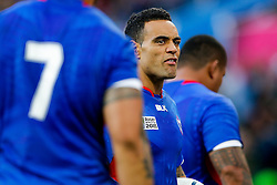 Samoa Scrum-Half Kahn Fotuali'i looks on - Mandatory byline: Rogan Thomson/JMP - 07966 386802 - 26/09/2015 - RUGBY UNION - Villa Park - Birmingham, England - South Africa v Samoa - Rugby World Cup 2015 Pool B.
