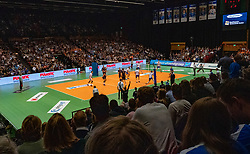 12-05-2019 NED: Abiant Lycurgus - Achterhoek Orion, Groningen<br /> Final Round 5 of 5 Eredivisie volleyball, Orion wins Dutch title after thriller against Lycurgus 3-2 / Martini plaza, spectators