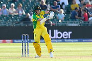 Steve Smith of Australia plays an attacking shot during the ICC Cricket World Cup 2019 match between Afghanistan and Australia at the Bristol County Ground, Bristol, United Kingdom on 1 June 2019.