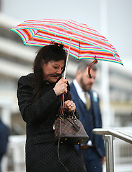 Racegoers arrive ahead of The Gold Cup Day of the 2019 Cheltenham Festival at Cheltenham Racecourse. PRESS ASSOCIATION Photo. Picture date: Friday March 15, 2019. See PA story RACING Cheltenham. Photo credit should read: Paul Harding/PA Wire. RESTRICTIONS: Editorial Use only, commercial use is subject to prior permission from The Jockey Club/Cheltenham Racecourse.