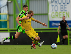 Chris Lines of Bristol Rovers is pulled back as he tries to break - Mandatory by-line: Paul Roberts/JMP - 22/07/2017 - FOOTBALL - New Lawn Stadium - Nailsworth, England - Forest Green Rovers v Bristol Rovers - Pre-season friendly
