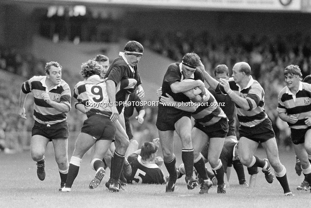Buck Shelford in action. All Blacks 1989 tour to Wales and Ireland. New Zealand Rugby Union. Photo: Andrew Cornaga/photosport.co.nz