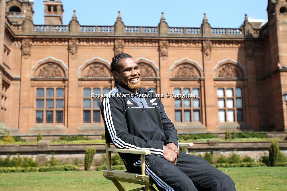 Lote Raikambula from New Zealand at Glasgow for the HSBS Sevens World Series 2012 - 2 May 2012 - Photo Martin Seras Lima / Photosport