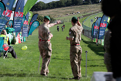 UK ENGLAND 30JUL17 - Hikers arrive at the finish line at Brighton racecourse after completing the Trailwalker 2017 challenge in the South Downs, England.<br /> <br /> jre/Photo by Jiri Rezac<br /> <br /> © Jiri Rezac 2017