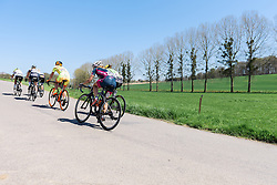 Break make their way up the first climb of the final lap - Flèche Wallonne Femmes - a 137km road race from starting and finishing in Huy on April 20, 2016 in Liege, Belgium.