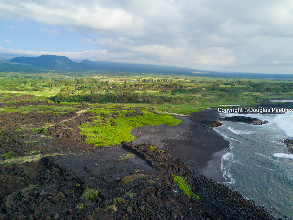 Kaieie Heiau, Ninole Cove, Black Sand Beach, Punaluu, Big Island of Hawaii, Hawaii