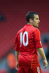 LIVERPOOL, ENGLAND - Thursday, May 5, 2011: Liverpool's number ten Joe Cole in action against Manchester United during the FA Premiership Reserves League (Northern Division) match at Anfield. (Photo by David Rawcliffe/Propaganda)