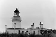 The lighthouse at Chanonry Point on the Moray Firth between Fortrose and Rosemarkie on the Black Isle, Scotland.