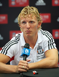 KUALA LUMPUR, MALAYSIA - Friday, July 15, 2011: Liverpool's Dirk Kuyt during a promotional event at the Adidas store at the Mid Valley Shopping Centre on day five of the club's Asia Tour. (Photo by David Rawcliffe/Propaganda)