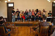 Oklahoma 4-H Music Corp<br /> &nbsp;<br /> The 4-H Music Corp is comprised of a group of highly talented singers and songwriters who are excited to perform original music.<br /> Their first performance was held in Historic Old Central at 6:00 p.m. March 18th.