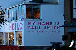 UK ENGLAND LONDON 2FEB14 - Hello my name is Paul Smith design exhibition near Tower Bridge, central London.<br /> <br /> <br /> <br /> jre/Photo by Jiri Rezac<br /> <br /> <br /> <br /> © Jiri Rezac 2014
