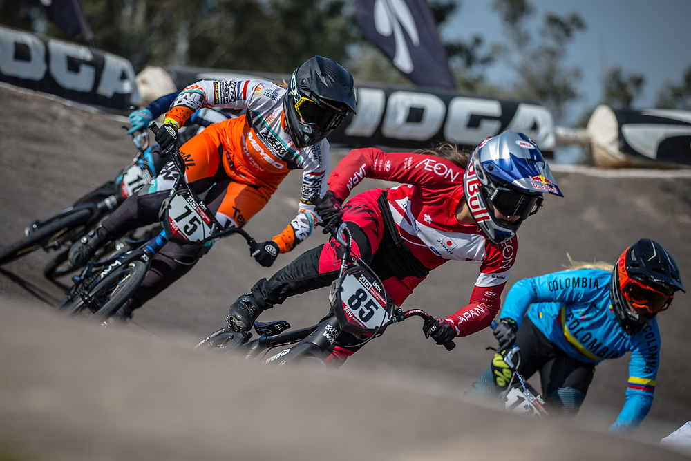 #85 (HATAKEYAMA Sae) JPN at Round 10 of the 2019 UCI BMX Supercross World Cup in Santiago del Estero, Argentina