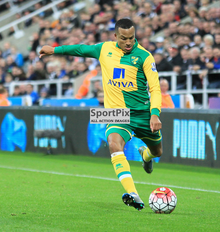 Newcastle United V Norwich City Premier League 18th October 2015;  Martin Olsson (Norwich, 23) during the Newcastle V Norwich match, played at St. James Park, Newcastle.