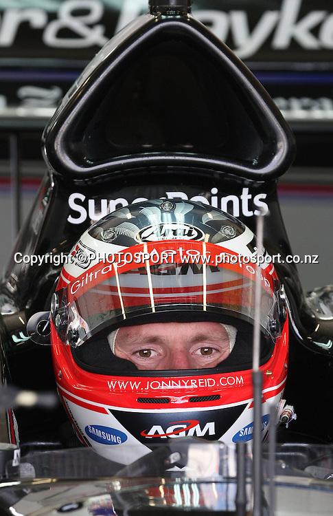 Jonny Reid. A1 Official Practice. Taupo, New Zealand. Saturday 19 January 2008. Photo: Andrew Cornaga/PHOTOSPORT
