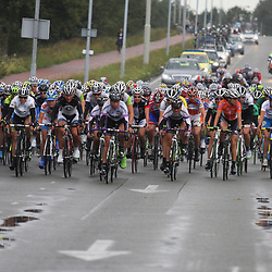 Ladies Tour peloton in actie
