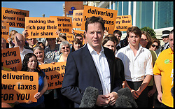Deputy Prime Minister Nick Clegg and Leader of the Liberal Democrats arrives at the Grand Hotel, Brighton, for the start of the Liberal Democrat Party Conference, Saturday September 22, 2012 Photo Andrew Parsons / i-Images..