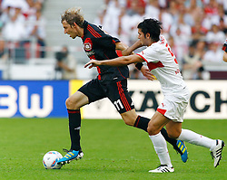 20.08.2011, Mercedes-Benz Arena, Stuttgart, GER, 1.FBL, VfB Stuttgart vs Bayer Leverkusen, Stefan KIESSLING, Bayer Leverkusen - Serdar TASCI, VfB Stuttgart.// during the match from GER, 1.FBL, VfB Stuttgart vs Bayer Leverkusen on 2011/08/20,  Mercedes-Benz Arena, Stuttgart, Germany..EXPA Pictures © 2011, PhotoCredit: EXPA/ nph/  A.Huber       ****** out of GER / CRO  / BEL ******