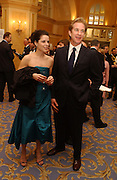 Neve Campbell and Matthew Modine Laurence Oliver Awards, Hilton Hotel. 26 February 2006. ONE TIME USE ONLY - DO NOT ARCHIVE  © Copyright Photograph by Dafydd Jones 66 Stockwell Park Rd. London SW9 0DA Tel 020 7733 0108 www.dafjones.com