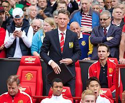 16-08-2014 ENG: Premier League, Manchester United vs Swansea City, Manchester<br /> Manchester United's manager Louis van Gaal <br /> <br /> ***NETHERLANDS ONLY***