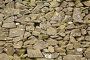 Drystone wall by a field on Blake Muir near Kirkhouse, Southern Uplands, Scotland