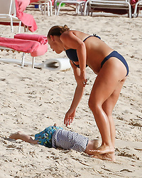 EXCLUSIVE: Wayne and Coleen Rooney are spotted on the beach with their sons while on holiday in Barbados. 27 May 2018 Pictured: Wayne and Coleen Rooney. Photo credit: MEGA TheMegaAgency.com +1 888 505 6342