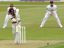 Somerset's Tom Abell plays into the leg side - Photo mandatory by-line: Robbie Stephenson/JMP - Mobile: 07966 386802 - 21/06/2015 - SPORT - Cricket - Southampton - The Ageas Bowl - Hampshire v Somerset - County Championship Division One