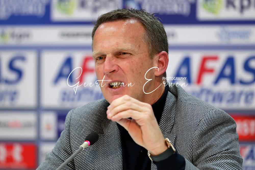 Coach John van den Brom of AZ Alkmaar during the press conference
