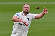 Joe Leach of Worcestershire during the Specsavers County Champ Div 1 match between Hampshire County Cricket Club and Worcestershire County Cricket Club at the Ageas Bowl, Southampton, United Kingdom on 13 April 2018. Picture by Graham Hunt.