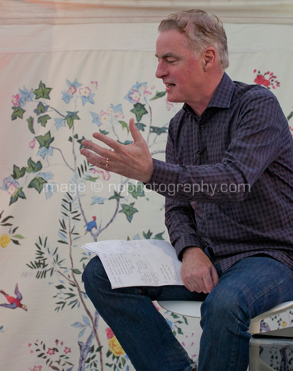 Dave Fanning interviewing writer and director Bruce Robinson at the Dalkey Book Festival, Dalkey, County Dublin, Ireland, Friday 16th June 2017