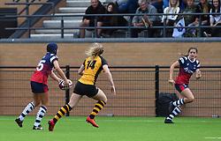 Merryn Doidge of Bristol Bears Women passes to Lilly Stoeger-Goddard of Bristol Bears Women - Mandatory by-line: Paul Knight/JMP - 08/09/2018 - RUGBY - Shaftesbury Park - Bristol, England - Bristol Bears Women v Wasps FC Ladies - Tyrrells Premier 15s
