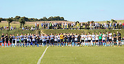 The minutes applause before the FA Vase 1st Qualifying Round match between Worthing United and East Preston FC at the Robert Eaton Memorial Ground, Worthing, United Kingdom on 6 September 2015. Photo by Phil Duncan.