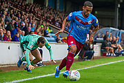 Jordan Clarke of Scunthorpe United during the EFL Sky Bet League 2 match between Scunthorpe United and Carlisle United at Sands Venue Stadium, Scunthorpe, England on 31 August 2019.