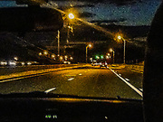 Driving at night in the grain through the windshield of life's expectations with lights and it's still dark... or is it a drive on the wild side on a bridge over troubled wahwah peddle.