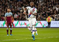 Football - 2019 / 2020 Premier League - West Ham United vs. Crystal Palace <br /> <br /> Jordan Ayew (Crystal Palace) reacts to seeing his goal ruled out for offside by the assistant referee at the London Stadium<br /> <br /> COLORSPORT/DANIEL BEARHAM