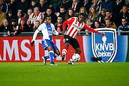 04-02-2016 VOETBAL:PSV-UTRECHT:BEKER:EINDHOVEN<br /> Ajax huurling Ruben Ligeon van FC Utrecht is overgekomen van Willem II en maakte vanavond zijn debuut in duel met Florian Jozefzoon van PSV <br /> <br /> Foto: Geert van Erven