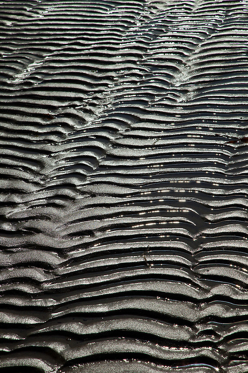 Tidal Patterns (Diseños de marea) Tràigh Uuige - Androil Beach. Lewis island. Outer Hebrides. Scotland, UK