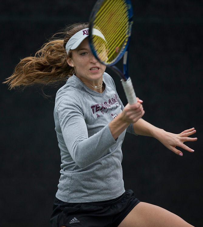 Sam Houston vs. Texas A&M in a NCAA women's tennis match Jan. 26, 2018, in College Station, Texas.